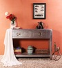 Kanowna Solid Wood Console Table in Metallic Finish by Bohemiana