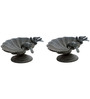 Karara Mujassme European Victorian Style Antique Cast iron Black Bird Bath