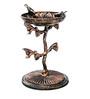 Karara Mujassme Victorian Style Cast Iron Antique Gold Bird Bath