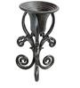 Karara Mujassme Victorian Style Hand-Crafted Antique Cast Iron Black Planter