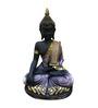 Karigaari Black & Brown Polyresin Meditating Buddha Statue