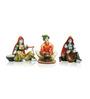 Karigaari Multicolour Polyresin Dolls Engaged In Different Work Statue Showpieces- Set of 3