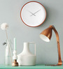 Karlsson White Wood 20.8 Inch Round Roman Numbers Wall Clock