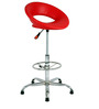 Kayen Bar Stool in Red by The Furniture Store