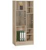 Kazuki Book Shelf cum Filing Cabinet in Oak Finish by Mintwud