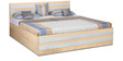 Kelly King Bed with Box Storage in Maple Matt & Silver Finish by Debono
