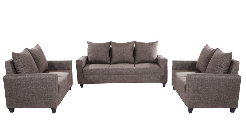 Keiko 3+2+2 Sofa Set in Brown Colour by Looking Good Furniture