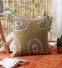KEH Mehendi Wool & Cotton Embroidery 20 x 20 Inch Artistic Handmade Chain Stitch Cushion Cover
