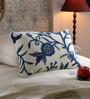 KEH Multicolour Cotton & Wool 12 x 20 Inch Heavy Flower Cushion Cover