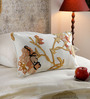 KEH Multicolour Cotton & Wool 12 x 20 Inch New Shalimar Gold Cushion Cover