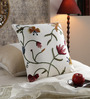 KEH Multicolour Wool & Cotton 20 x 20 Inch Butterfly Cushion Cover