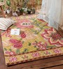 KEH Multicolour Wool Artistic Hand Embroidered Area Rug