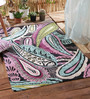 KEH Multicolour Wool Floral Hand Embroidered Area Rug
