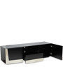 Kent High Gloss Entertainment Unit in Black Oak Finish by HomeTown