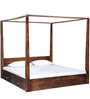 Freemont King Poster Bed With Storage In Provincial Teak Finish by Woodsworth