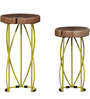 Drosen Set Of Tables in Painted - Multicolour finish by Bohemiana