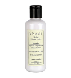 Khadi Lavender Herbal Fairness Lotion (With Shea Butter & Paraben Free) (210 ml)
