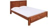 Kimberley King Bed in Light Walnut Finish by Evok