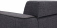 Kinaya Three Seater Sofa in Dark Grey Colour by Furny