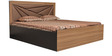 King Bed with Storage in Dark Brown Colour by Parin