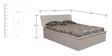 King Bed with Storage in White Colour by Parin