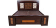 King Bed with Storage in Dark Brown Colour by Karigar