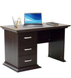 Kichirou Study Table With Three Drawers In Wenge Finish By Mintwud