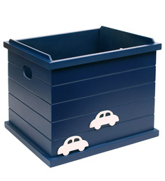 Kids Toy Storage Open Box in Dark Blue Colour by FlyFrog