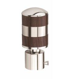 Kipwel Brown Steel 3 x 2 Inch Cylindrical Curtain Bracket - Set of 2