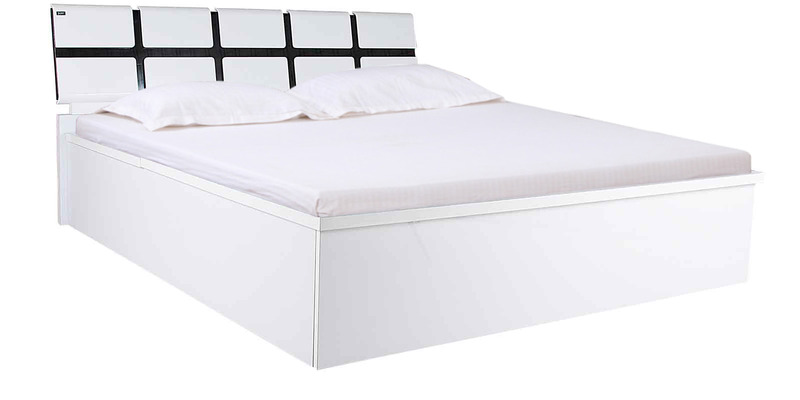 King Size bed with Storage in Black & White Colour by Parin