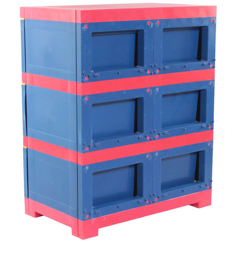 Kids Freedom Chester 13 With Three Drawers In Pepsi Blue And Bright Red Colour By Nilkamal By