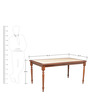 Kiera Six Seater Dining Set in Cherry N Beige Colour by HomeTown