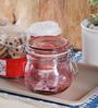Kilner Pink Glass 500 ML Round Jar - Set of 2