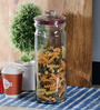 Kilner Pustop Clear Glass Cylindrical 2300 ML Storage Jar Set of 2
