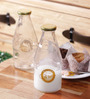 Kilner Clear Glass 568 ML Milk Bottle Set of 2