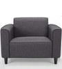 Kinaya One Seater Sofa in Dark Grey Colour by Furny