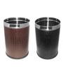 King International Black & Brown 18 L Open Dustbin - Set of 2