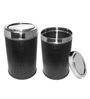 King International Black 18 L Swing Dustbin - Set of 2