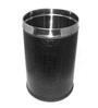 King International Black 7 L Open Dustbin