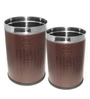 King International Brown Open Dustbin - Set of 2