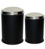 King International Black Dustbin - Set of 2
