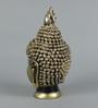 King International White & Golden Polyresin Loving Couple Figurine