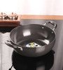 Kitchen Essentials Aluminium 3.5 L Hard Anodized Deep Kadai