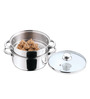 Kitchen Essentials Stainless Steel Induction Friendly Boiler/Steamer With Glass Lid