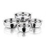 Kitchen Essentials Stainless Steel Flat Bottom Handi Container Set - Set Of 4