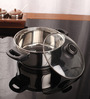 Kitchen Essentials Stainless Steel Induction Friendly Dutch Oven With Glass Lid