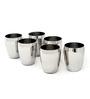 Kitchen Krafts Aromatic Stainless Steel 250 ML Glasses - Set of 6