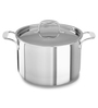 KitchenAid Tri-Ply Stainless Steel 7.5 L Stockpot with Lid KCT80SCST