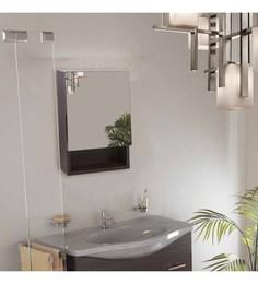 Klaxon Brown Engineered Wood Bathroom Mirror Cabinet - 1590386