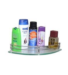 Klaxon Silver Brass Bathroom Shelf